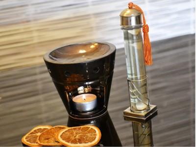 """Brûle parfum noir émaillé"" - Duftlampe handgefertigte Keramik, schwarz emailiert"
